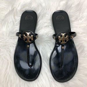 Tory Burch Black Mini Miller Jelly Thong Sandal 8
